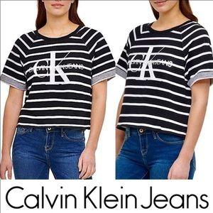 CALVIN KLEIN JEANS CROP TEE NWT
